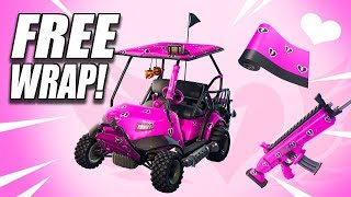 'NEW FREE' Fortnite Cuddle Hearts Wrap!!!