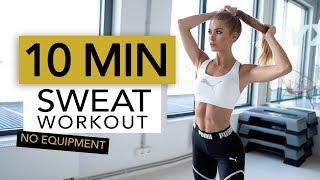 Download 10 MIN SWEAT WORKOUT | Full Body Sweat for Fat Burning  // No Equipment | Pamela Reif