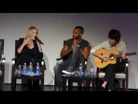 Eliza Taylor and Christopher Larkin singing WAG con in Toulouse, France