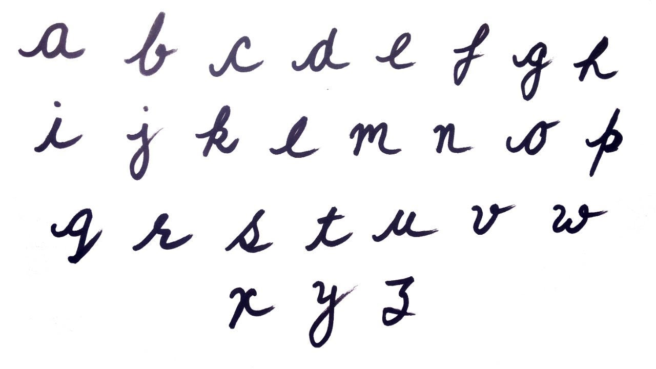 Cursive Writing For Beginners Small Abcd Cursive Writing Az Abcdefghijklmnopqrstuvwxyz Cursive