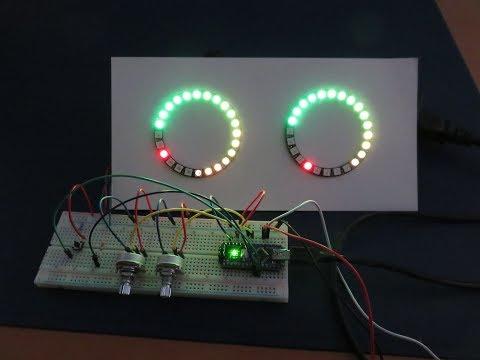 Arduino powered stereo VU meter