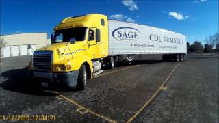 "Class A CDL Skills Test ""90 Degree Alley Dock"" Video #12"