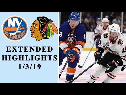 New York Islanders vs.Chicago Blackhawks | EXTENDED HIGHLIGHTS | 1/3/19 | NHL | NBC Sports