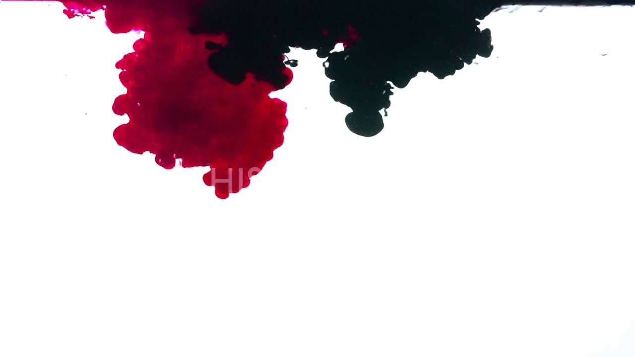 Red and black ink on a white background - YouTube