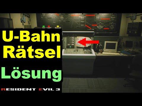 Resident Evil 3 U-Bahn Station Rätsel Lösen - U Bahn Gleise Puzzle Railway Train Route Code Lösung