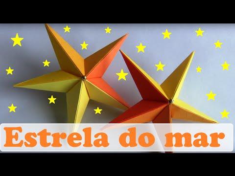 ESTRELA DO MAR DE ORIGAMI