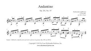 Carulli Andantino Op 241 No 19