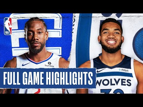 CLIPPERS At TIMBERWOLVES | FULL GAME HIGHLIGHTS | February 8, 2020