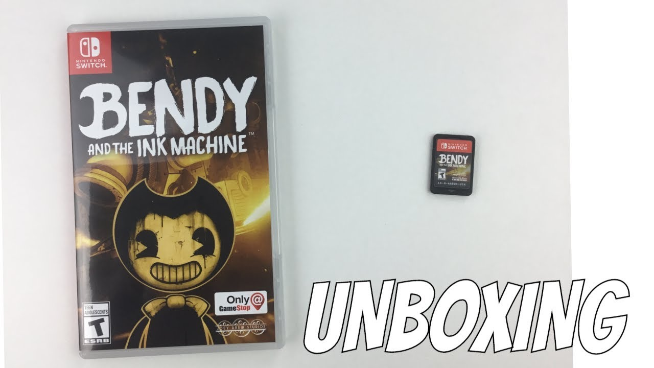 NINTENDO SWITCH BENDY AND THE INK MACHINE GAME UNBOXING ...