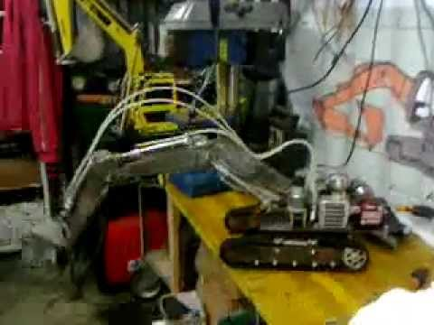 Pistone idraulico per braccio robot finalmente ultimato for Costruire pressa idraulica