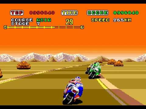 Super Hang On - Sega Mega Drive/Genesis playthrough