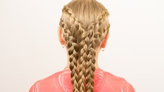 Французские косички для девочек. French Braids for Girls(Подписывайтесь на мой канал http://www.youtube.com/user/4OXYGENE http://instagram.com/olyanaryzhnaya http://vpletaysya.ru http://vk.com/vpletaysya ..., 2015-06-28T08:00:00.000Z)