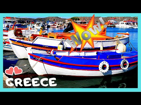 Island Of PATMOS: The Beautiful ⛵🐟 Colorful Fishing Boats (Greece)