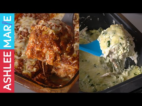 How To Make Two Lasagna Recipes Two Ways - Classic Lasagna And Chicken Alfredo Slow Cooker Lasagna