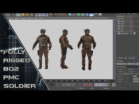 Black Ops 2 PMC Soldier Fully Rigged + Free Download! | By KoyanagiEdits