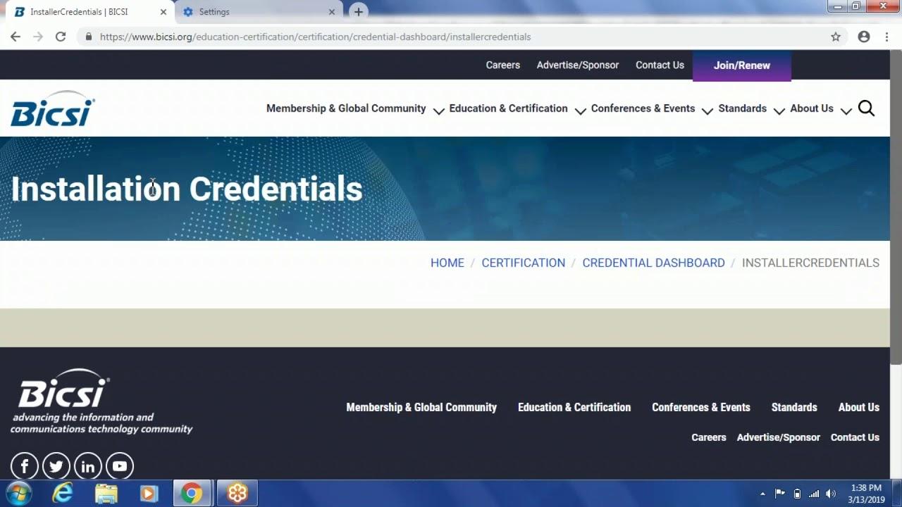 Certification Bicsi