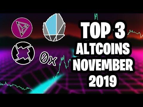 Top 3 Altcoins For November 2019