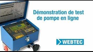 Comment procéder à un test de pompe en ligne en utilisant un testeur hydraulique portable Webtec