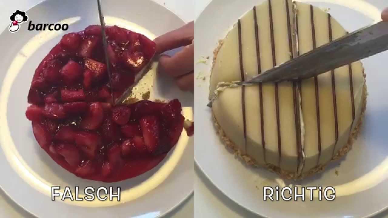 Kuchen Richtig Schneiden Youtube