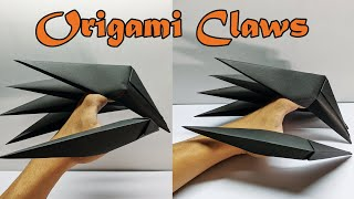 How to make ṗaper claws - origami claws - Halloween claws