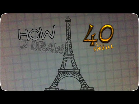 Sky tower speed drawing (read description) - YouTube