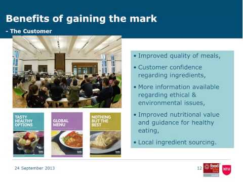 How we achieved a Silver Catering Mark -  Nottingham Trent University (exchange)