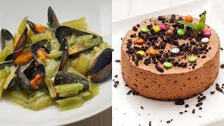 Borraja con mejillones - Tarta mousse de chocolate y café - Cocina Abierta de Karlos Arguiñano
