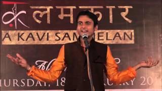 Oaj Kavi Prakhyat Mishra performing in KalamKaar Kavi Sammelan