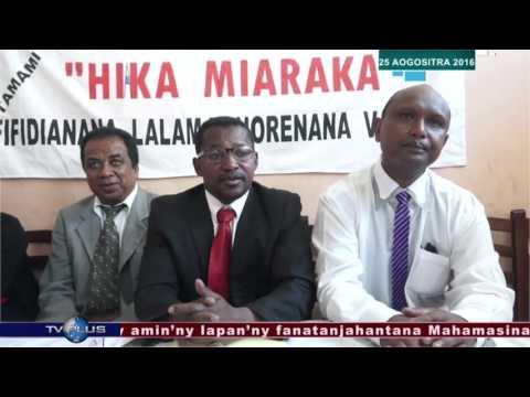 VAOVAO 25 AOGOSITRA 2016 BY TV PLUS MADAGASCAR
