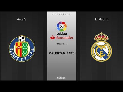 Calentamiento Getafe vs R. Madrid