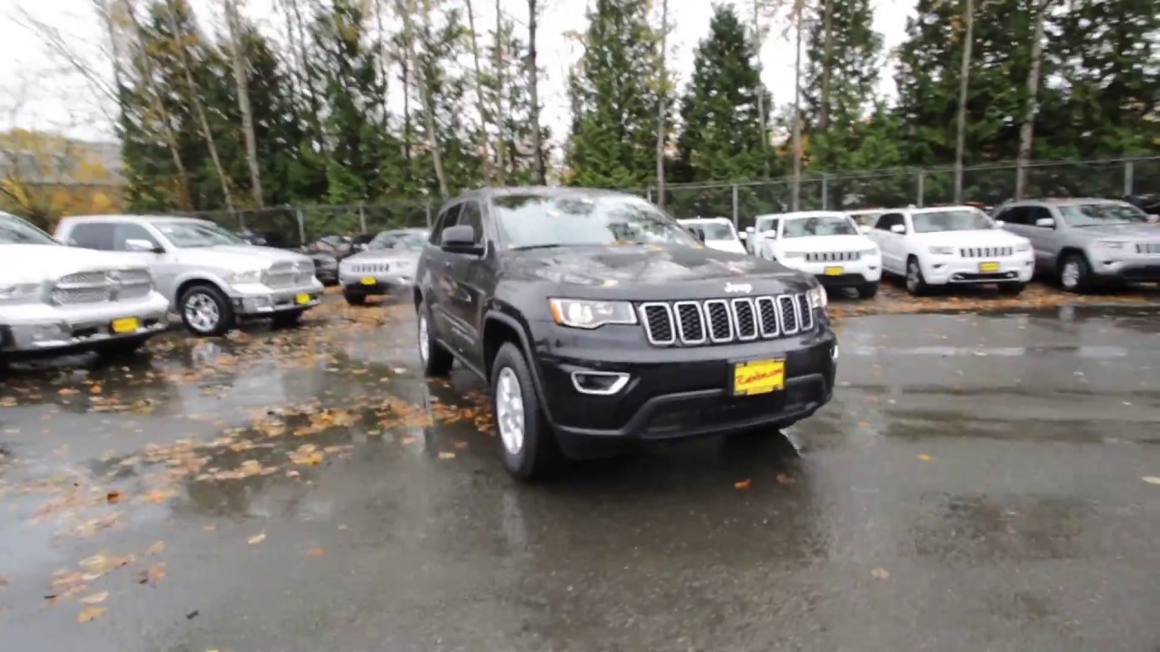 2017 Jeep Grand Cherokee Laredo 4x4 Diamond Black Crystal Hc645160 Redmond Seattle