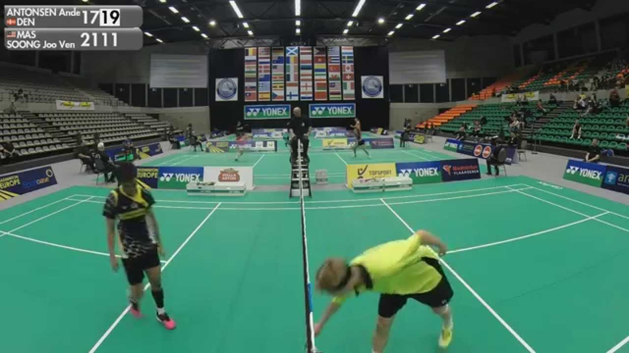 Anders Antonsen vs Soong Joo Ven MS 1 4 Finals 2015 Belgian