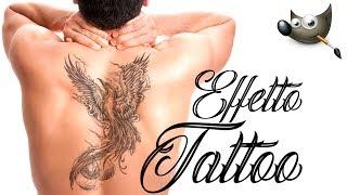 Gimp Tutorial ITA effetto tatuaggio
