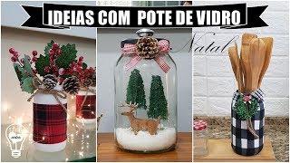 IDEIAS COM POTE DE VIDRO PARA O NATAL