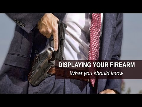 Displaying Your Firearm In Virginia