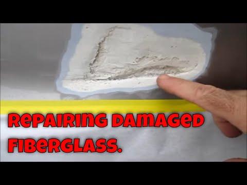 Simple fiberglass repair on a small trailer. - YouTube