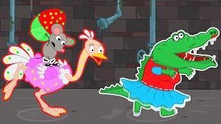 León de la Familia Canal Oficial   Rata s Lair: Mi Magia Mascota de Avestruz | dibujos animados para los Niños