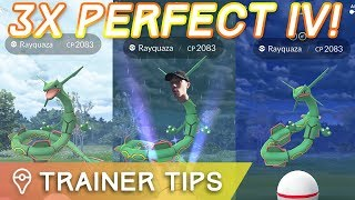 THREE PERFECT IV RAYQUAZA IN ONE DAY! – Pokémon GO Legendary Raid Train