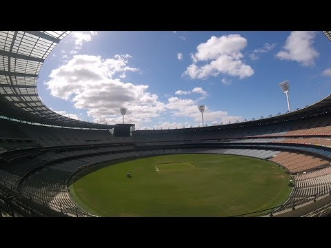 Touring the Melbourne Cricket Grounds.