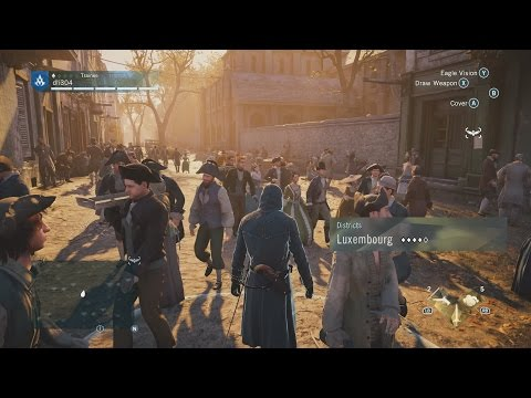 Assassin's Creed Unity 60 FPS PC Max Settings 1080p GTX 980 SLI Open World Free Roam Gameplay
