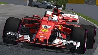rFactor F1 2017 Vettel onboard Ferrari SF70H Montreal