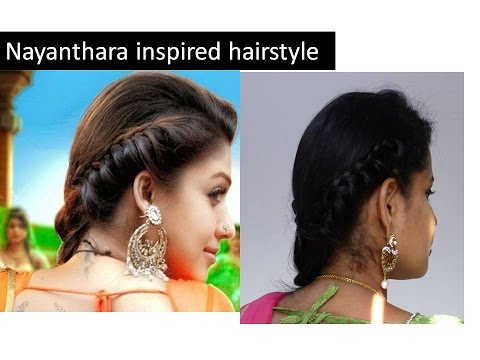 Nayanthara Inspired Hairstyle Tutorial For Traditional