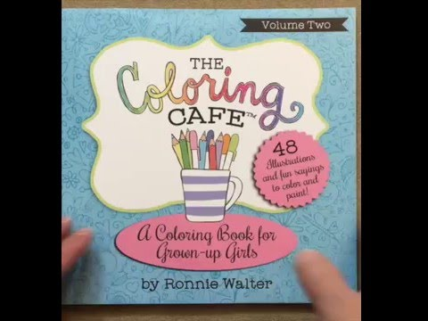 The Coloring Cafe Volume Two A Book For Grown Up Girls 2 Flip Through