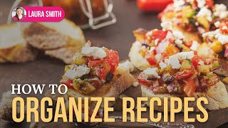 Recipe Organizing Thumbnail