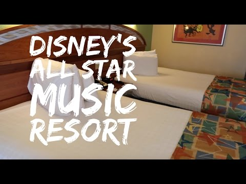 Disneys All Star Music Resort  Room and Resort tour