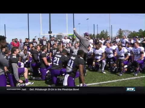 Northwestern Spring Football Practice Highlights