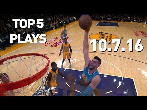 Top 5 NBA Plays: October 7th