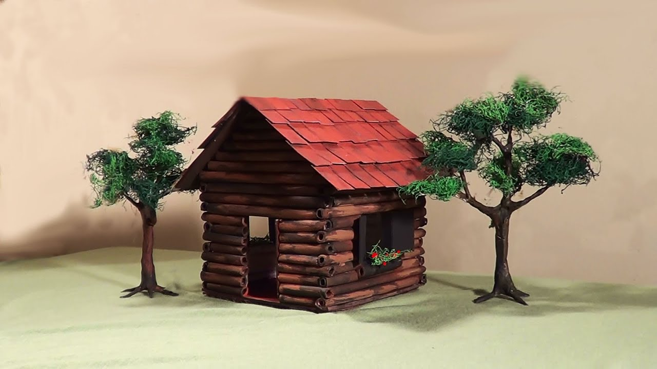 miniatura diorama casa de madeira miniature wooden
