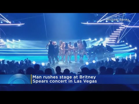 Man Rushes The Stage At Britney Spears Concert In Las Vegas