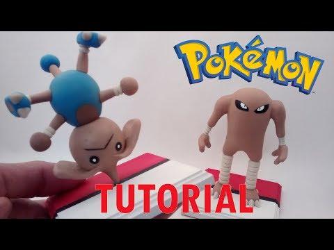 How to make Hitmontop Pokemon Polymer Clay / Como hacer a Hitmontop Pokemon Porcelana fría